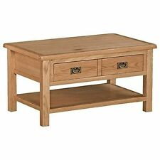 Roseland Furniture Surrey Oak Light Honey Waxed Coffee Table Brown