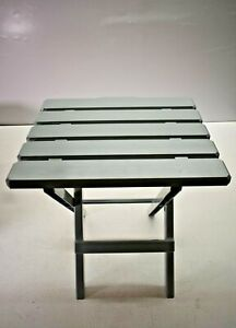 Camco 21038 Adirondack Quick Folding Table Camping RV Plastic Gray Large New