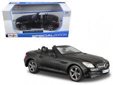2011 Mercedes Benz SLK CLASS Convertible Diecast Car 1:24 Maisto 7in MATTE BLACK