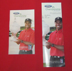 TIGER WOODS-DORAL FORD GOLF CHAMPIONSHIP 2006-RARE-SPECTATOR GUIDE+PAIRING SHEET