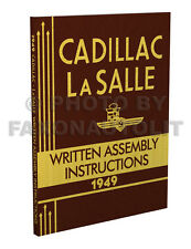 1949 Cadillac and LaSalle Assembly Manual Written Instructions