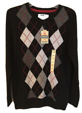 Urban Pipeline Boys Size XL Argyle Pullover Sweater Red Gray Black New NWT