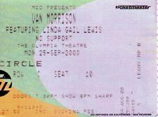 Van Morrison - Original Concert Ticket - The Olympia, Dublin, IRL - 25-Sep-2000