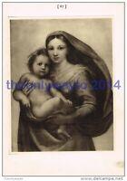 Sistine Madonna - Raphael, Book Illustration, 1902