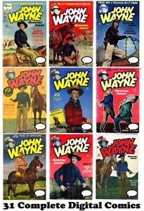 JOHN WAYNE Adventure Comics #1-31 Complete Run Gold Age 1950 on Digital DVD