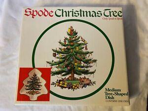 Spode Medium Christmas Tree Shaped Dish With Original Box - Perfect Condition