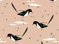 RPFCHB54 Charley Harper Black Billed Magpie Song Birds Organic Cotton Fabric