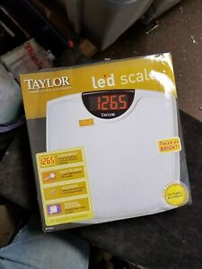 Taylor 9856 Led Electronic Digital Scale 330 Lb 150 Kg Maximum New in Open Box
