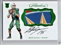 Brad Kaaya 2017 Panini Flawless Collegiate Rookie Patch Auto #2/5 MIAMI! RPA-BK2