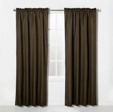 "Eclipse Rod Pocket Black Out Curtain Panel Braxton Espresso 42"" x 84"""