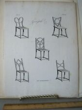 Vintage Print,GARTENSTUHLE,Grohmann,1797