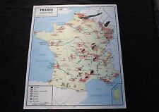 L797 Affiche Scolaire vintage France commerce exterieure industrie Rossignol