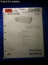 Sony Service Manual CDX 616 CD Changer (#4164)