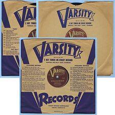 """(3) 10"""" 78 RPM RECORDS VARSITY ALBUM SET E-13 WORLD FAMOUS WALTZES / BOB STANLEY"""