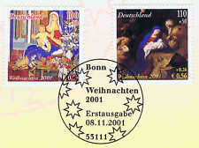 Rfa 2001: Noël N°2226 + 2227 Avec Bonner Cachet Spécifique Du Premier Jour! 1A