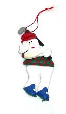 Santa Dressed as GOLFER Dough Ornament Great Detail NEW Playing Golf FORE