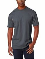 Dickie's Men's Short Sleeve Heavyweight Crew Neck Pocket, Charcoal, Size X-Large