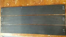 "gabon ebony bass fingerboard blanks, 4"" wide, nice dark color"