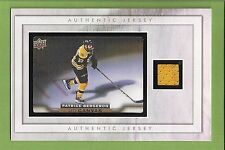 Boston Bruins Patrice Bergeron UD Canvas   w/Authentic Upper Deck Jersey