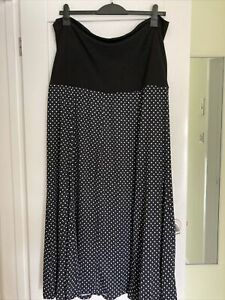 Ladies Black Polka Dot Anthology Dress Size 24 New With Tags