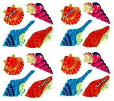 ~ Sparkle Shells Seashells Blue Orange Pink Hambly Studio Glitter Stickers ~