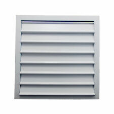 Gravity Duct Extractor Fan Ventilation Wall Grille Aluminium White