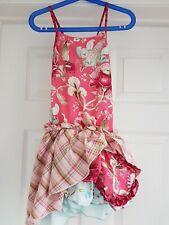 Kenzo Junior Age 4 Yrs Pink Summer Dress,  Cross Back & Detachable Ruffle Skirt