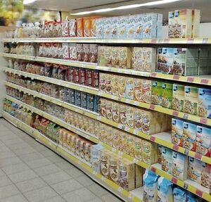Supermarkt Regale 5m Bio gebraucht Ladeneinrichtung Tego/Vendox/Eden Wandregale