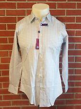 Egara Mens Button Front Non-Iron Slim Fit Shirt New w/ Tags Mens 15 1/2 (32-33)