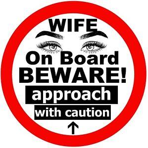Femme Sur Board - Fun Voiture Fantaisie / Fenêtre Autocollant (Beware + 1