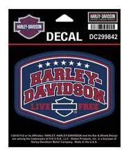 Harley-Davidson H-D American Pride Decal, SM Size - 4 x 3.0625 inches DC299842