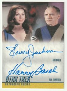 2009 Star Trek TOS Sherry Jackson-Harry Basch Dual Autograph Auto Card