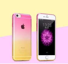 Clear Soft Colorful Silicone Rubber ShockProof Case Cover For iPhone6 6S 7 7Plus