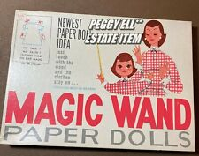 "1960'S ""Magic Wand Paper Dolls"" Wendy & Her Mommy w/Original Brochure & Wand"