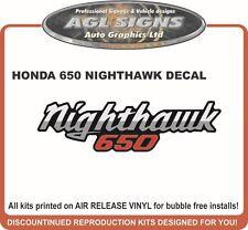 1984  HONDA 650 NIGHTHAWK  DECAL , reproductions  550