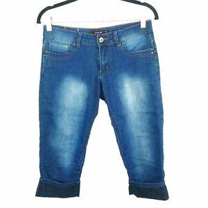 Kenneth Lopez Stretch Capri Jeans Women's Size 7/8 Dark wash
