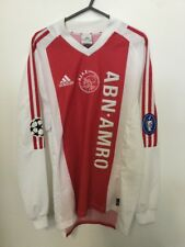 Ajax Amsterdam Home Long-Sleeve Champions League Football Shirt (S) 02/03 Adidas