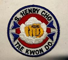 Vintage S. Henry Cho Tae Kwon Do Patch Taekwondo Karaté Mma