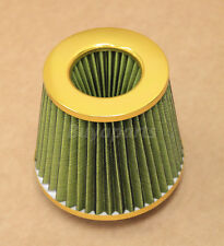 3' GOLD RACING INLET HIGH FLOW SHORT RAM/COLD INTAKE ROUND CONE MESH AIR FILTER
