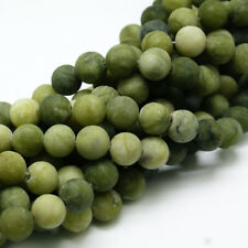Natural Frosted Taiwan Jade Loose Beads Round