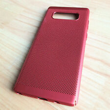 Slim Fit Samsung Galaxy Note 8 Lightweight Metallic Red Case Mesh Back Cover