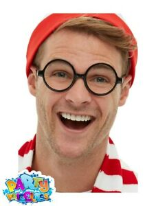 Officially Licensed Wheres Wally Glasses Specs Adults Kids Book Day Fancy Dress