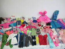 BARBIE DOLL CLOTHING LOT OVER 100 PCS DRESSES PANTS SKIRTS JACKETS  #1
