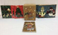Christmas Greeting Cards Blank 3D Textured Set 8 w/ Decorative Storage Box Angel