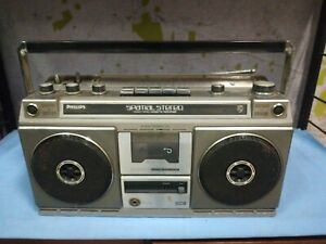 Philips Spatial Stereo 508 Cassette Player Portable Boombox Ghettoblaster