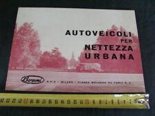BROCHURE BERGOMI AUTOVEICOLI NETTEZZA URBANA ROMEO FIAT 682 OM LAMBRETTA CICLI