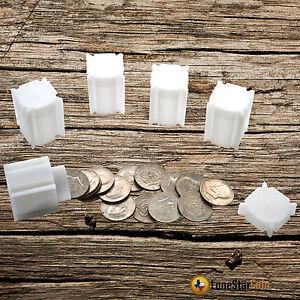 5 CoinSafe HALF DOLLAR Square Coin Tube - Coin Supplies