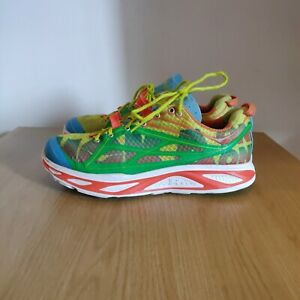 Hoka One One Huaka Trail Road Running Lightweight Rainbow Shoes Trainers UK 8