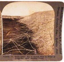 World War I Stereoview Barbed Wire Bulgarian Lines Saloniki Front Keystone View
