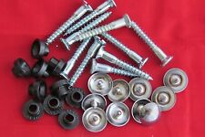 "10 x Mirror Screws CHROME Dome Heads.Plastic Washers. 1.25"" / 32mm Long Free P+P"